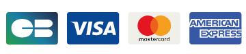 Moyens de paiements : Carte bleu, VISA, Mastercard, American express