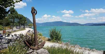 Vue sur le lac Bourget du Restaurant du Port - DR