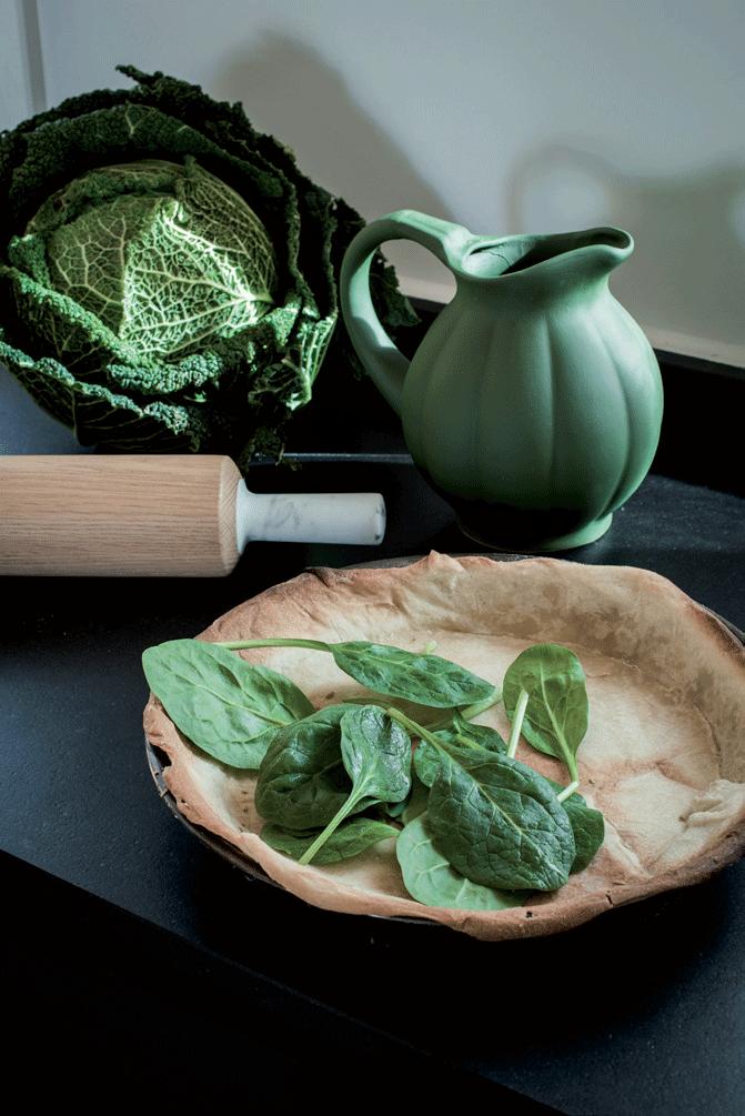 cuisine-pot-à-eau-vert-tarte-et-choux