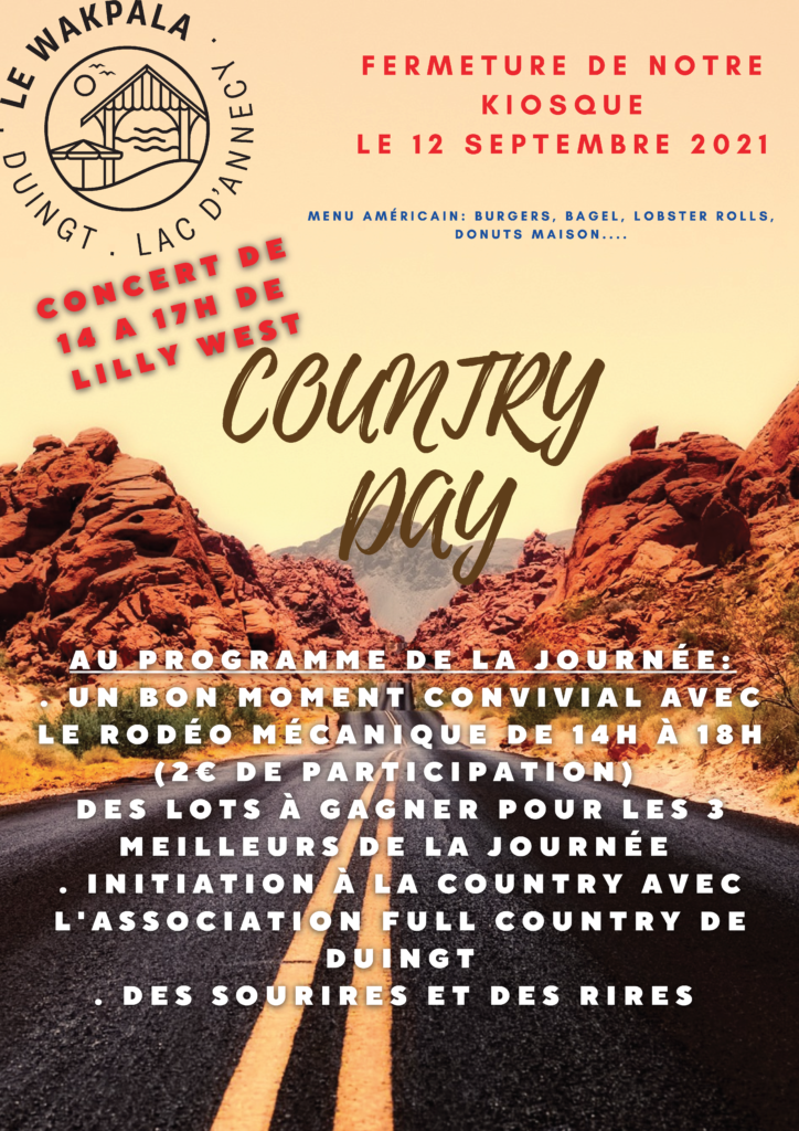 Country day au Wakpala affiche